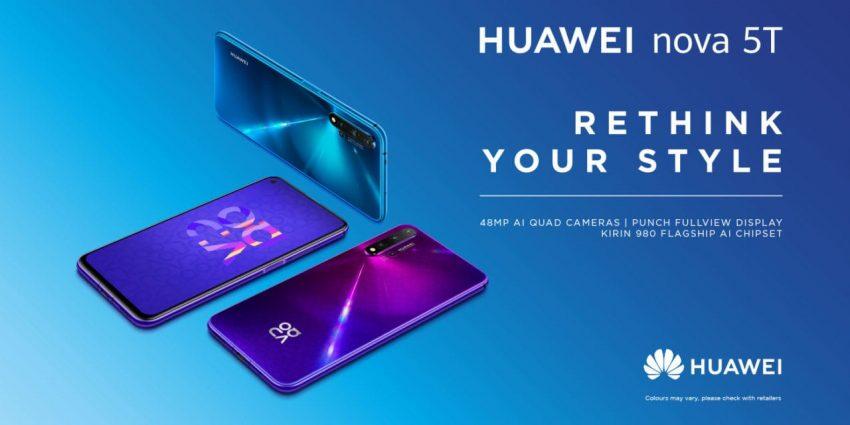 تصویر از عرضه محصول جدید هوآوی Huawei nova 5T در بازار ایران