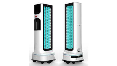 تصویر از ربات ضد عفونیکننده ال جی برای مبارزه با گسترش ویروس کرونا