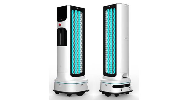 ربات ضد عفونیکننده ال جی برای مبارزه با گسترش ویروس کرونا