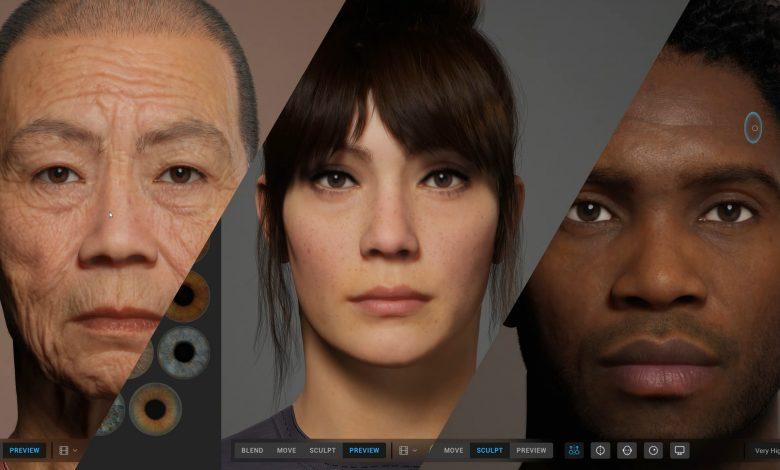 ساخت انسانها واقع گرایانه بواسطه ابزار MetaHuman Creator اپیک گیمز